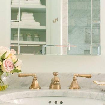Antique Brass Bathroom Sink Faucets Design Ideas