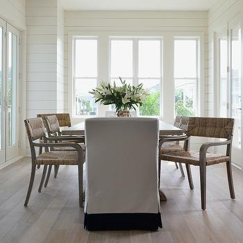 Seagrass Dining Chairs, Cottage, dining room, Munger Interiors