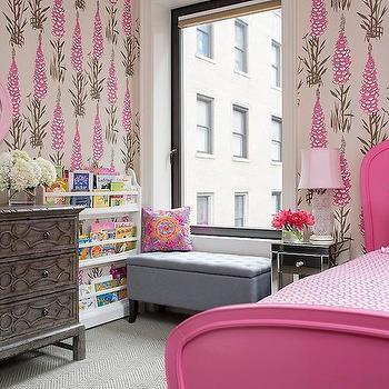 Pink Bed, Transitional, girl's room, Benjamin Cruz Designs