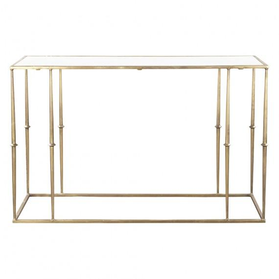 Glam Brass Marble Top Console Table