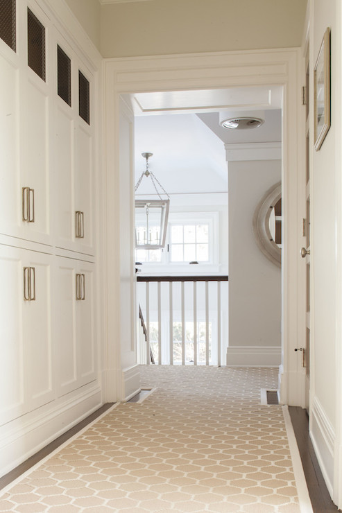 Hallway Linen Closets Transitional Entrance Foyer Sb