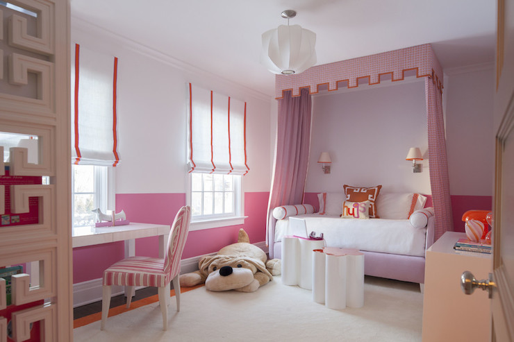 Daybed Canopy Traditional Girl S Room Sb Long Interiors