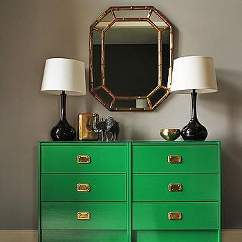 Emerald Green Dresser, Transitional, bedroom
