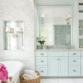 Tiled Bathtub Nook, Transitional, bathroom, Mark Williams Design