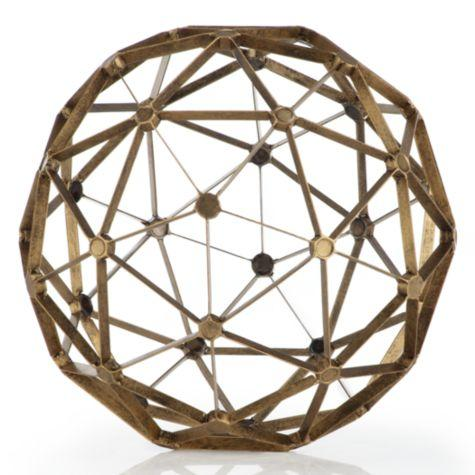 Well known Gold 2 Piece Sphere Sculpture QF01
