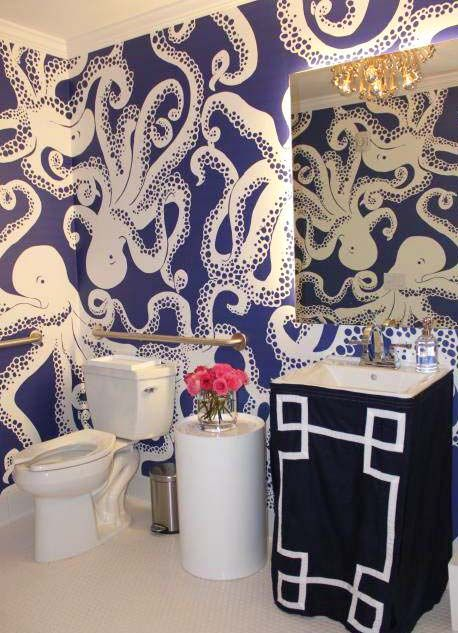 Navy Blue Nautical Bathrooms Design Ideas