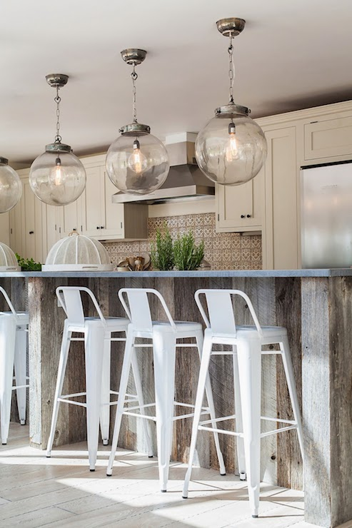 Reclaimed Wood Island view full size - Reclaimed Wood Kitchen Island Design Ideas