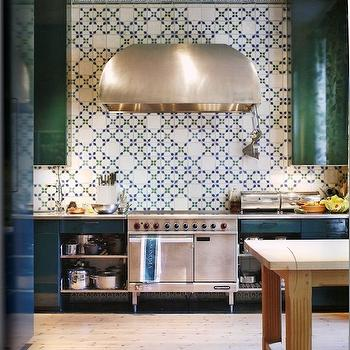 lovely emerald green kitchen cabinets | Green Cabinets - Contemporary - kitchen - Benjamin Moore ...
