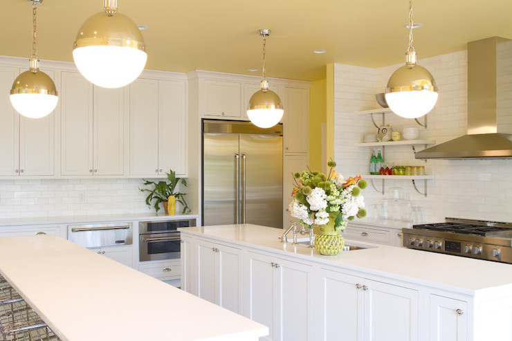 Caesarstone Pure White Countertops Transitional