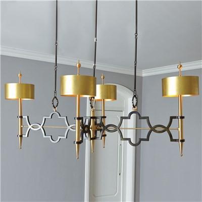global views lighting quatrefoil bronze pendant