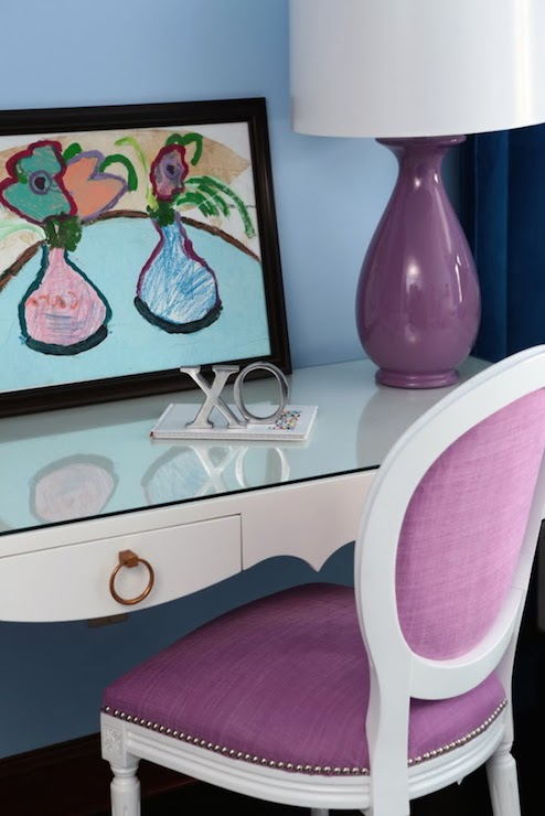 view full size pretty girlu0027s bedroom with light blue - Light Blue Desk Chair