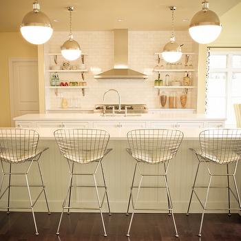 Double Kitchen Islands, Transitional, kitchen, Porters Paint Beeswax, Alisha Gwen