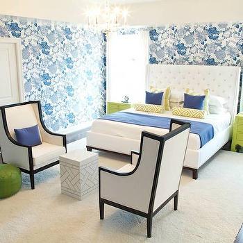Thibaut Cut Paper Wallpaper, Contemporary, bedroom, Alisha Gwen