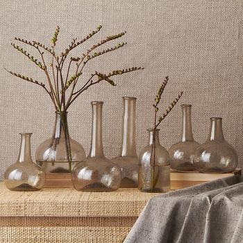 Champagne Set of 7 Vintage Decorative Bottles, BURKE DECOR