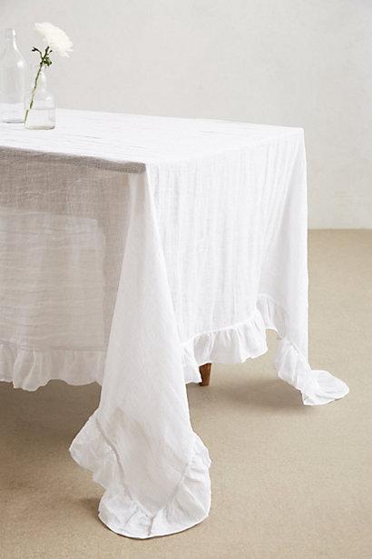 Farmhouse White Tablecloth