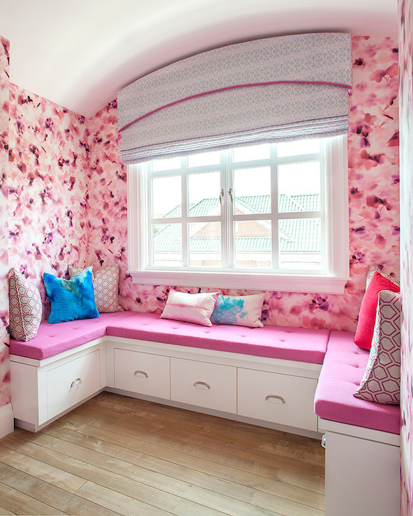 Kids Window Seats - girl\'s room - Melanie Morris Design