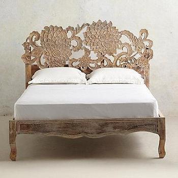 Handcarved Lotus Bed I anthropologie.com
