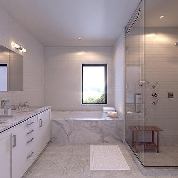 Shower Subway Tiles, Contemporary, bathroom, Morris Adjmi Architects