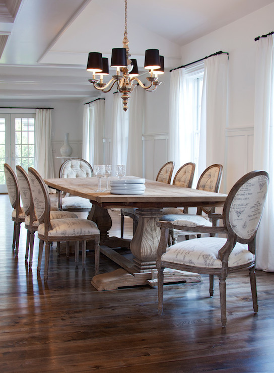 French Script Dining Chairs & French Script Dining Chairs - Transitional - dining room ...