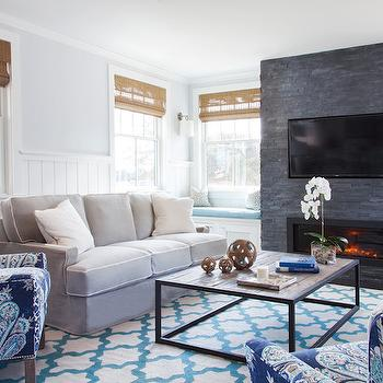 Fireplace Window Seats, Transitional, living room, Christopher Home Furnishings
