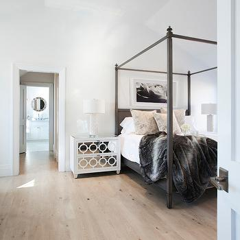 Gray Canopy Bed, Transitional, bedroom, Christopher Home Furnishings