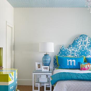 Greek Key Nightstand, Contemporary, bedroom, Caldwell Flake