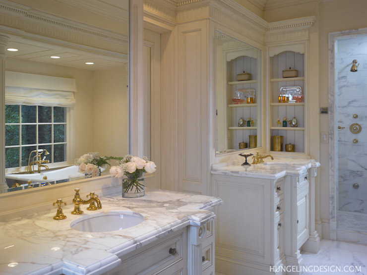 His And Her Vanity Sinks View Full Size. Traditional Bathroom ...