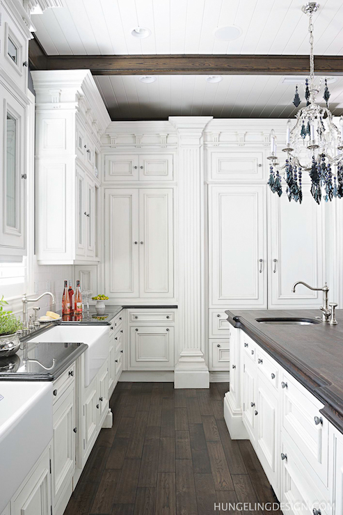 Hidden Refrigerator Transitional Kitchen Benjamin Moore Simply White Hungeling Design