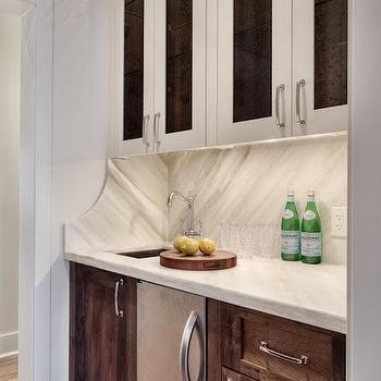 White Leathered Marble, Transitional, kitchen, Veranda Interiors