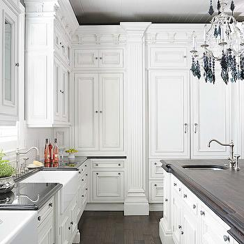 Hidden Refrigerator, Transitional, kitchen, Benjamin Moore Simply White, Hungeling Design
