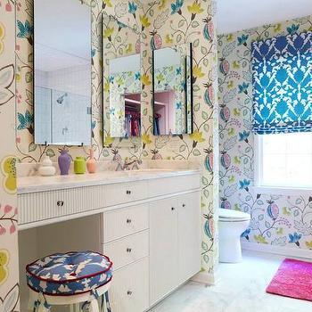 Girls Bathroom Ideas, Eclectic, bathroom, Rebecca Hawkins Interiors