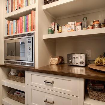 Microwave in Pantry, Transitional, kitchen, Veranda Interiors