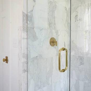 Gold Shower Door Handle Design Ideas