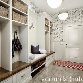 Mudroom Wainscoting, Transitional, laundry room, Veranda Interiors
