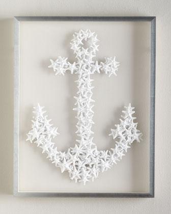 Karen Robertson Collection White Starfish Anchor Wall Decor