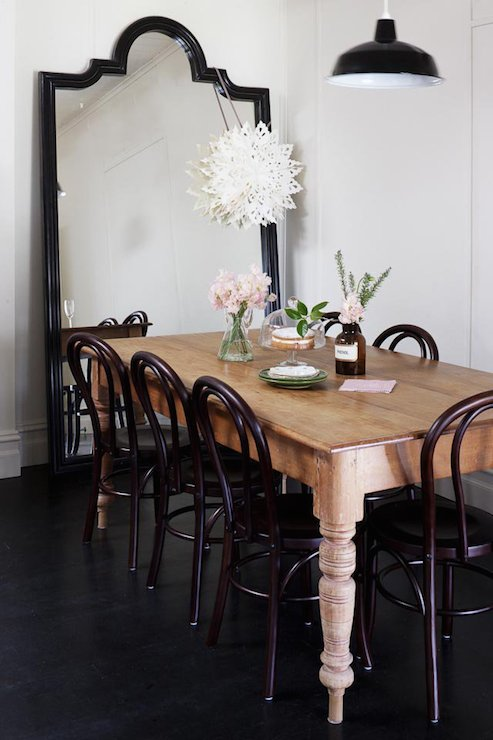 Farmhouse Dining Table Transitional Dining Room Kathy Collins