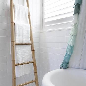 Towel Ladder, Cottage, bathroom, Kathy Collins