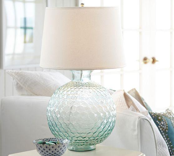 Clear Glass Bedside Lamp Base