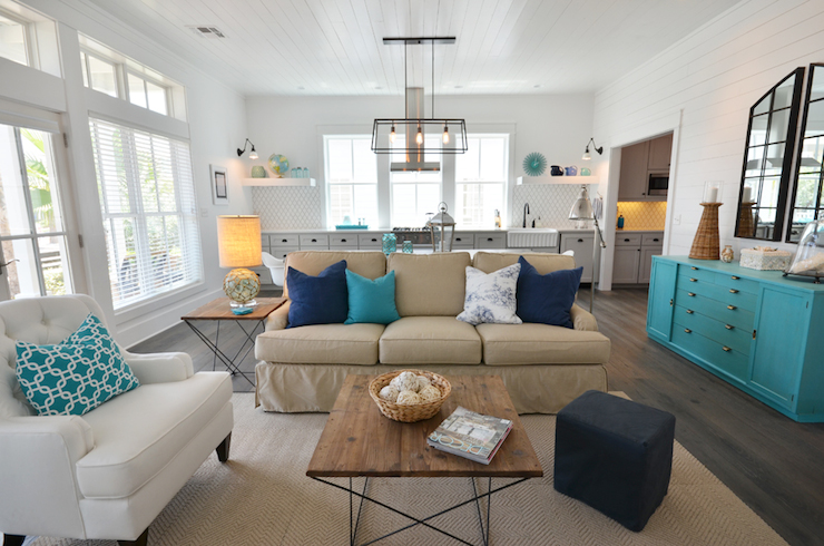 Beach Cottage Living Room - Cottage - living room - Lollygag ...