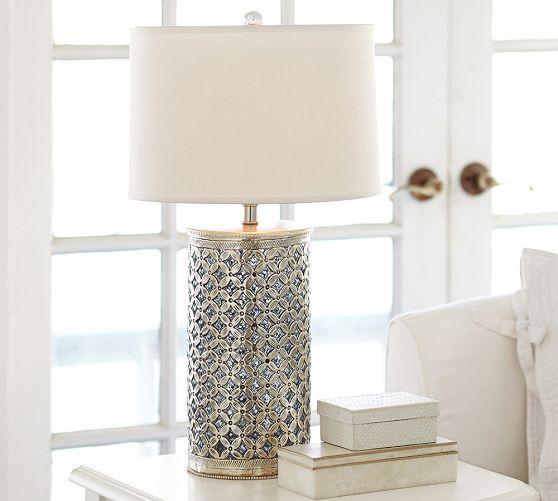 Nice Ramona Silver Bedside Lamp Base