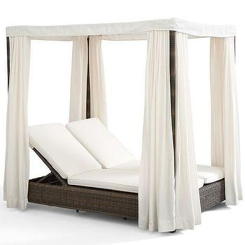 Torrey All-Weather Wicker Daybed, Pottery Barn