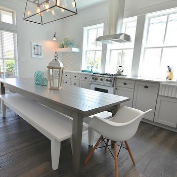 Lollygag Beach House Gray Dining Table