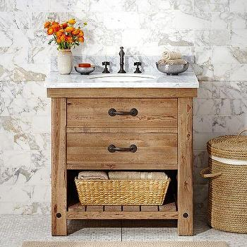 Abbott Double Sink Brown Console