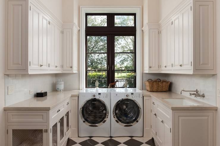 Laundry Room Dog Bed - Transitional - laundry room - Planning and ...