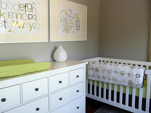 Gray And Green Nursery Transitional Nursery Sherwin