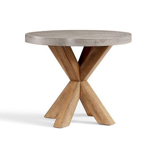 Abbott Grey Concrete Top Round Fixed Bistro Table