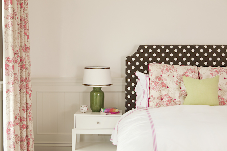Polka dot headboard transitional bedroom thornton for Polka dot bedroom ideas