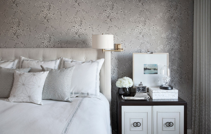 Mirror Over Nightstand Contemporary Bedroom Shannon