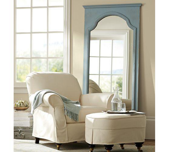 Sonia Blue Floor Mirror