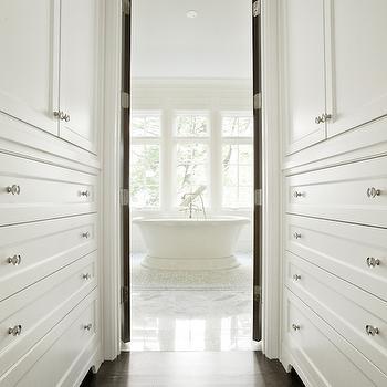 Walk Through Closet, Transitional, closet, PLD Custom Homes